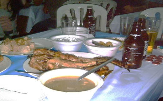 Tropical Drinks and Fish Pulutan (finger foods) - Photo by Travel Man