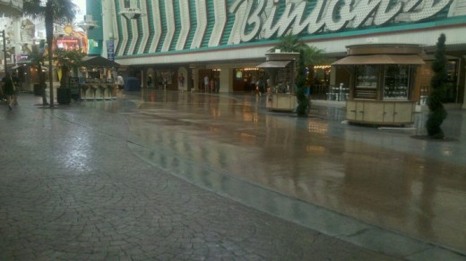 Raining on Fremont St.