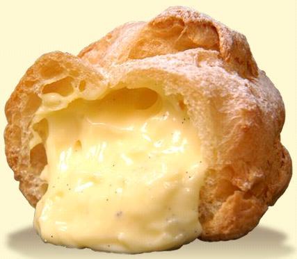vanilla flavored papa beard cream puff