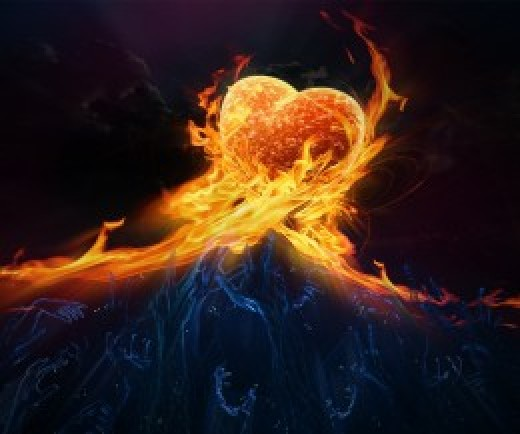 A heart of love is a heart of fire