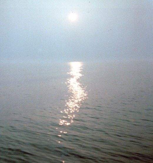 Image of sun setting over the Chesapeake Bay