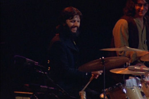 Ringo Starr was the only other former Beatle to play along with drummer Jim Keltner.