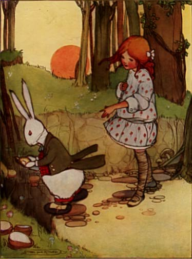 Alice In Wonderland illustration by Mabel Lucie Attwell