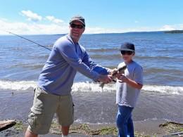 Jonah and Dad Yellowstone Lake
