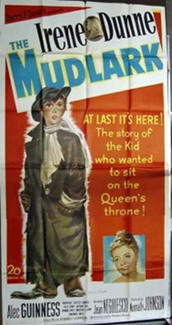 "Film Poster for ""The Mudlark"" - ""The story of the kid who wanted to sit on the Queen's Throne""."