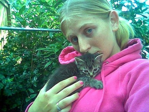 4-week-old feral kitten being rescued