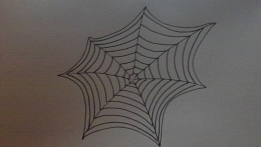 Draw Cob Webs - Study This cobweb drawing.