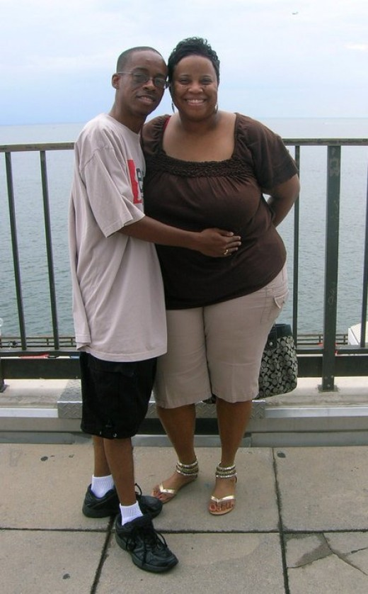 Nicole P. Walker and I in St. Petersburg via Tampa Bay, FL. Had a great time together.