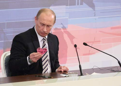 Putin doesn't know what Valentine's is.