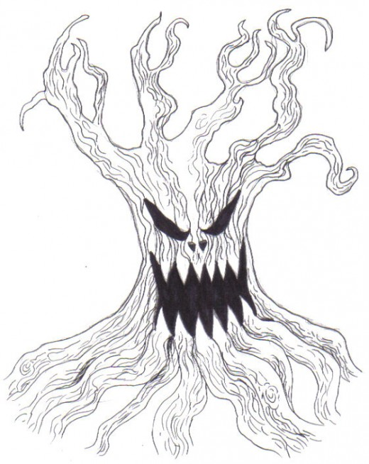 A fantasy tree creature idea Copyright Wayne Tully 2011.