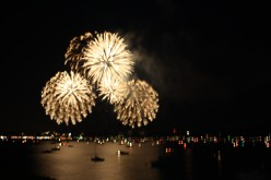 The Lake of Biel - Celebrating The National Day of Switzerland - Fireworks