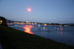 waiting for the fireworks at the Biel Lake Promenade