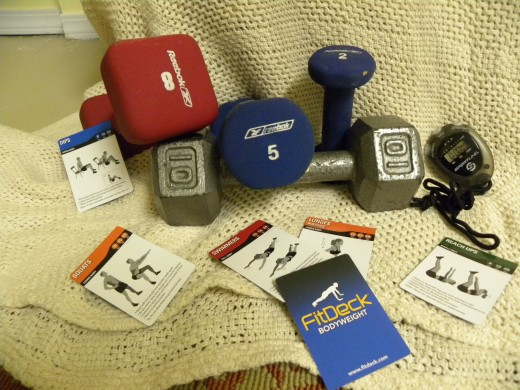 It's a good idea to have a variety of weights in your home gym.