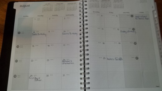 Large Calendar Book