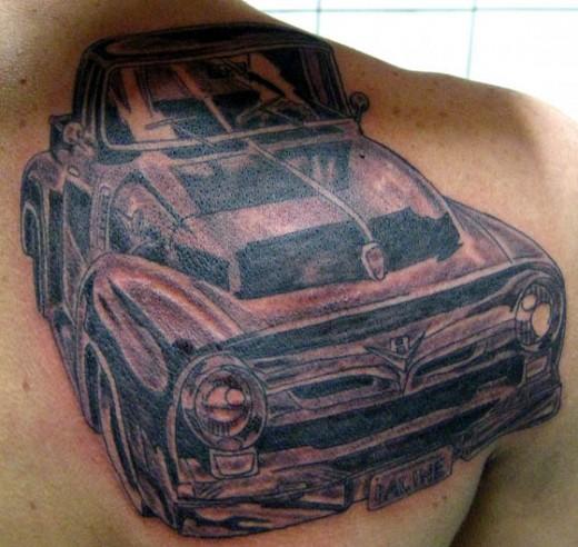 Ford thunderbird mustang mercury f 100 tattoos for Truck tattoos designs