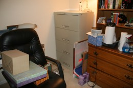 file cabinet is overkill for our needs, but I'll keep it.  Maybe I can move it elsewhere?