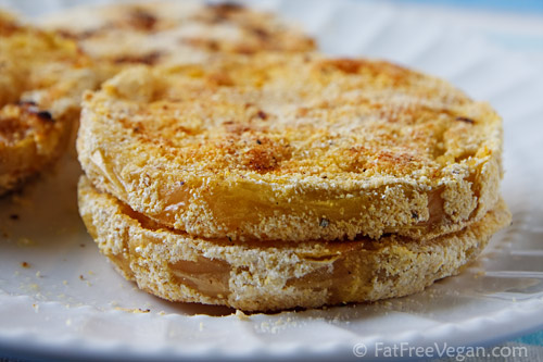 Healthy fried green tomato