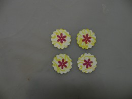 Smaller scalloped circles stamped with flower
