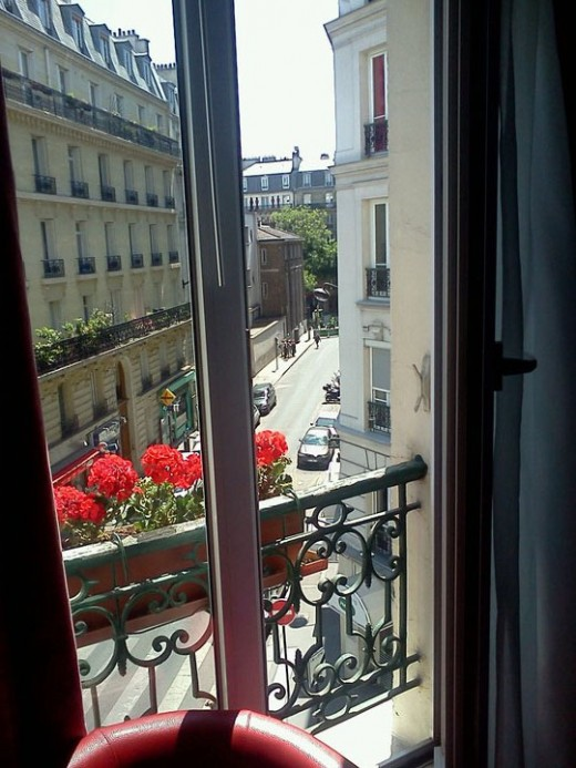 Window from Hostel in Paris
