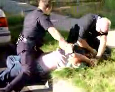 Police brutality caught on film