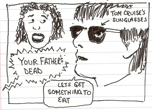 dead father rainman movie sketch drawing
