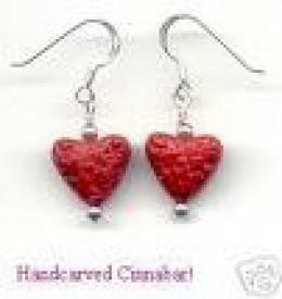 Cinnabar Lacquer Earrings