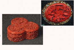 Cinnabar Lacquer Jewelry Box