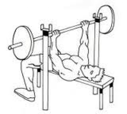 The classic bench press.