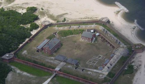 Fort Clincn on Amelia Island, used briefly in the American Civil War.