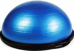 BOSU Core Training with Standing Medicine Ball Rotations