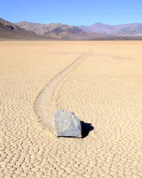 "The track lengths of some of the ""Sailing Stones"" are incredible."