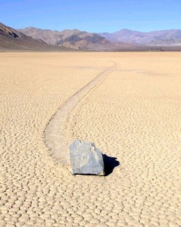 """The track lengths of some of the """"Sailing Stones"""" are incredible."""
