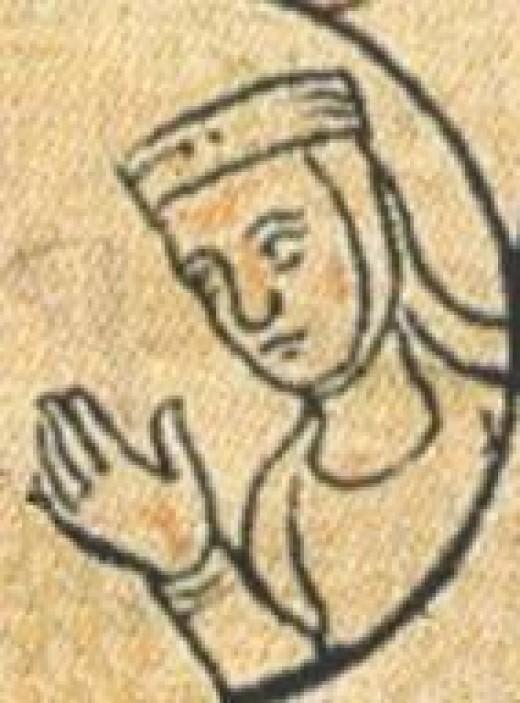 Drawing of Queen Berthe of Bugundy (10th century)