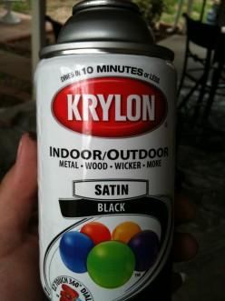 Krylon dries in ten minutes
