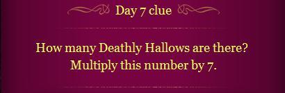 Pottermore Clue Day 7