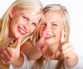 Beauty is from within to an always-happy blond girl who values her smile more than her salon-perfect hair and perfect complexion. Always-happy blonds make the best friends.