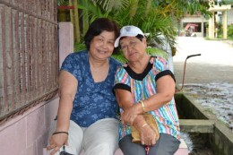 Tita now 71 (right) with Lou Dacillo picture taken May 2011