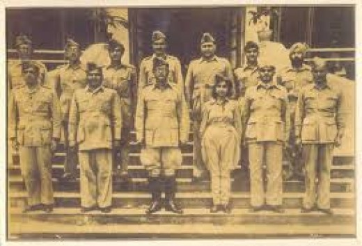 The Leader Bose with his Officers