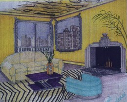Art Deco Interior Rendering by MsDesign1-Sarah Sherter