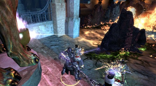 Dragon Age 2 Defeating Corypheus through Fire, Rock and Electricity