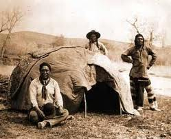 A traditional Native American sweat lodge