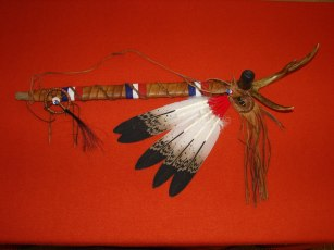 A Lakota pipe created by tribal member Laverne Little