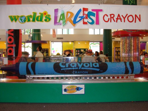 World's largest crayon.