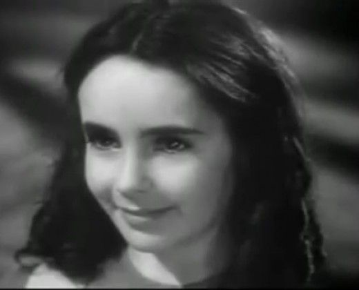 Orphans scrubbed up well in the 1934 movie of Jane Eyre; here, Elizabeth Taylor, age 12 played Helen. Helen dies of TB as Jane Eyre sleeps next to her in the bed.