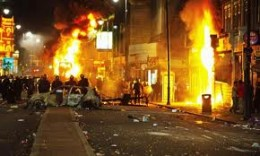 During the riots.
