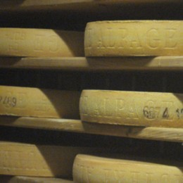 Gruyere being stored at the makers.