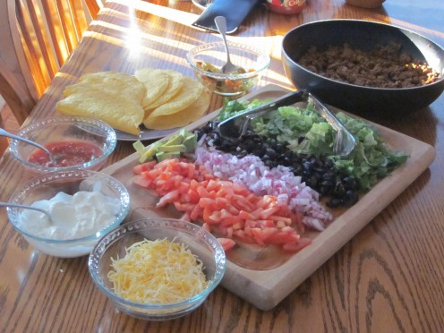 Ground Beef Tacos. Be creative with your fillings!