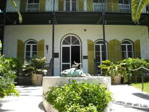 The Ernest Hemingway House in Key West.