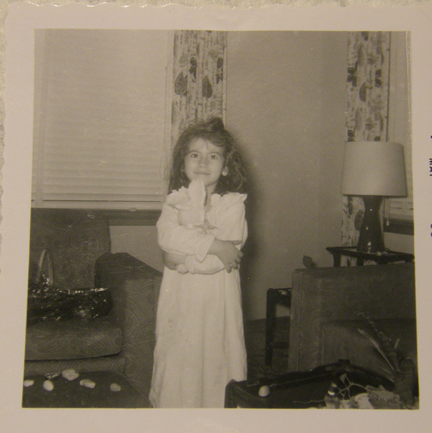 The original photograph before I restored it (it's my mama and she gave me permission lol)