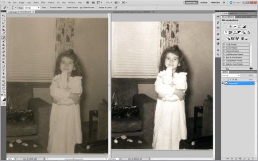 image adjustments:  tone, contrast, saturation etc...